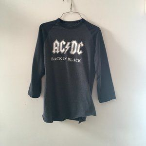 AC/CD Back in Black Tour Baseball Shirt